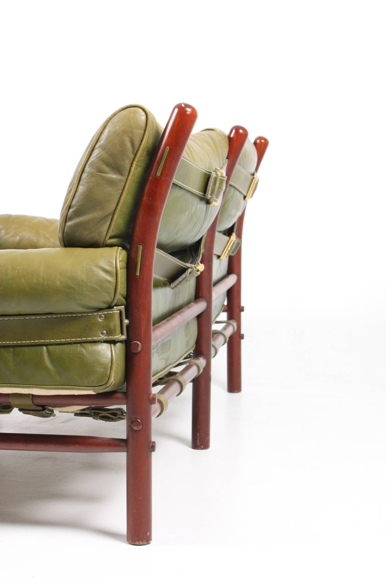 Sofa in Patinated Leather by Arne Norell For Sale 2