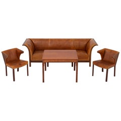 Sofa in Patinated Niger Skin by Frits Henningsen