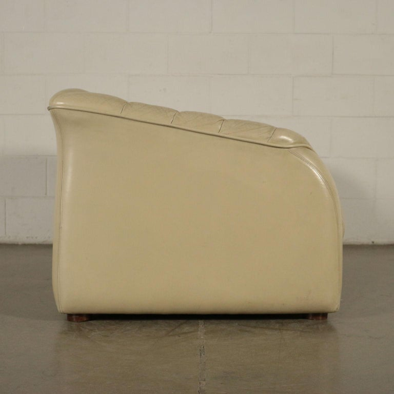 Mid-Century Modern Sofa Leatherette Foam, Italy, 1960s-1970s For Sale