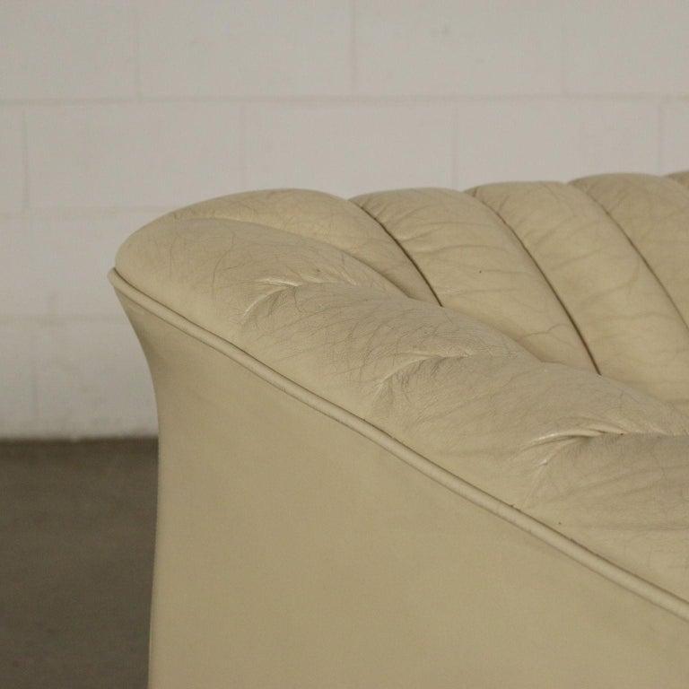Italian Sofa Leatherette Foam, Italy, 1960s-1970s For Sale