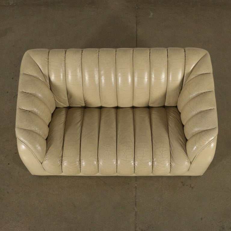 Faux Leather Sofa Leatherette Foam, Italy, 1960s-1970s For Sale