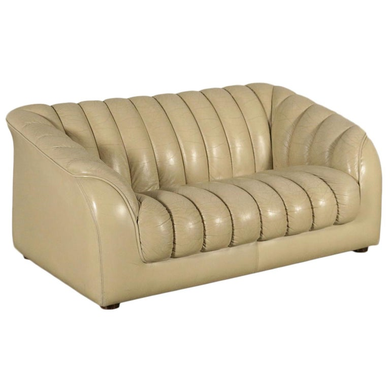 Sofa Leatherette Foam, Italy, 1960s-1970s For Sale
