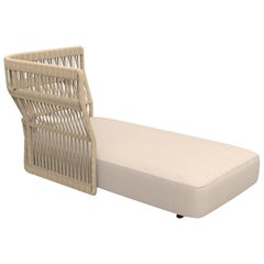Sofa Lounge with Right Rope Backrest Beige