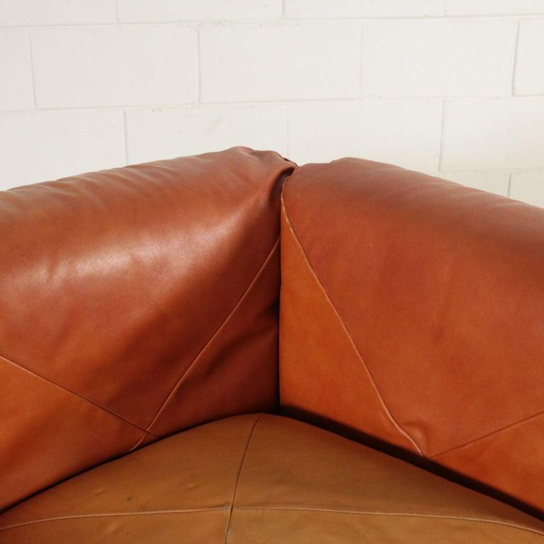 Other Sofa Mario Marenco Wood Foam Leather Metal, 1970s