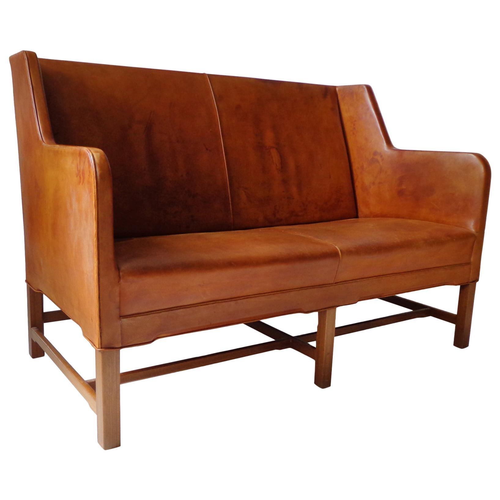 Sofa Model 5011 in Original Cognac Leather by Kaare Klint for Rud Rasmussen