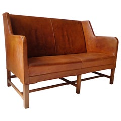 Sofa Model 5011 in Original Cognac Leather by Kaare Klint for Rud Rasmussen