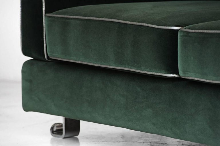 "Modern Sofa Model ""Fasce Chromate P11"" by Luigi Caccia Dominioni, Italy, 1963 For Sale"