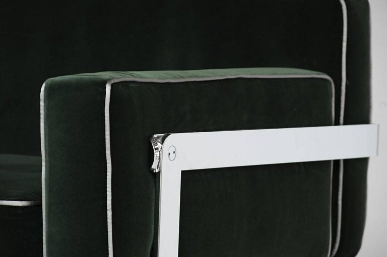 "Sofa Model ""Fasce Chromate P11"" by Luigi Caccia Dominioni, Italy, 1963 In Excellent Condition For Sale In Barcelona, Spain"