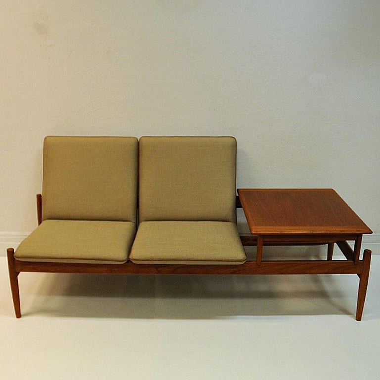Scandinavian Modern Midcentury Sofa module set Saga with table by Gunnar Sørlie 1958, Norway For Sale