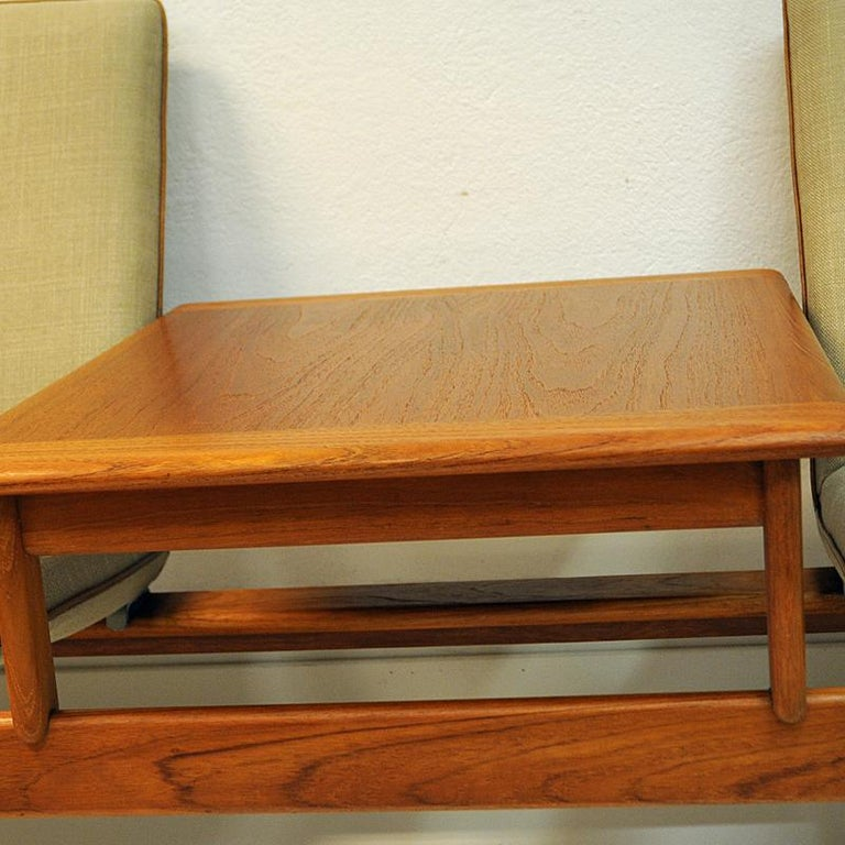 Midcentury Sofa module set Saga with table by Gunnar Sørlie 1958, Norway In Good Condition For Sale In Stockholm, SE