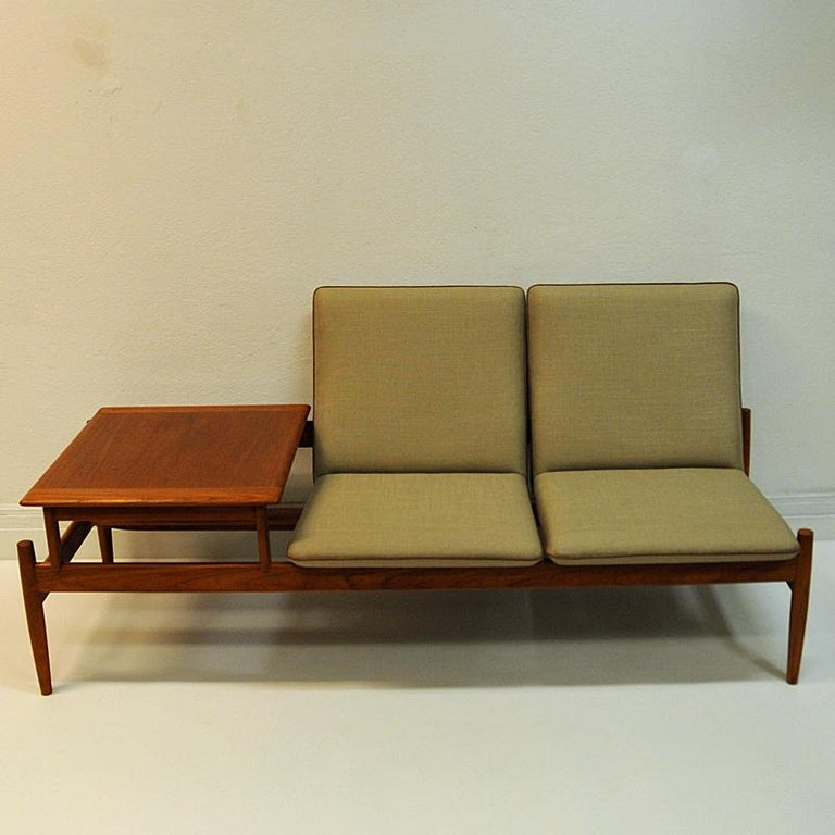 Leather Midcentury Sofa module set Saga with table by Gunnar Sørlie 1958, Norway For Sale
