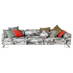 Sofa New York Bis, Rubelli Fabric, Made in Italy