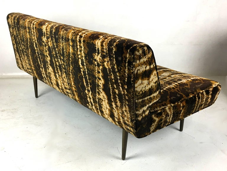 Sofa or Bench with Brass Legs by Edward Wormley for Dunbar, Larsen Velvet For Sale 1