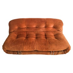 Sofa Soriana from Afra & Tobia Scarpa Edited by Cassina, 1970s Burnt Orange