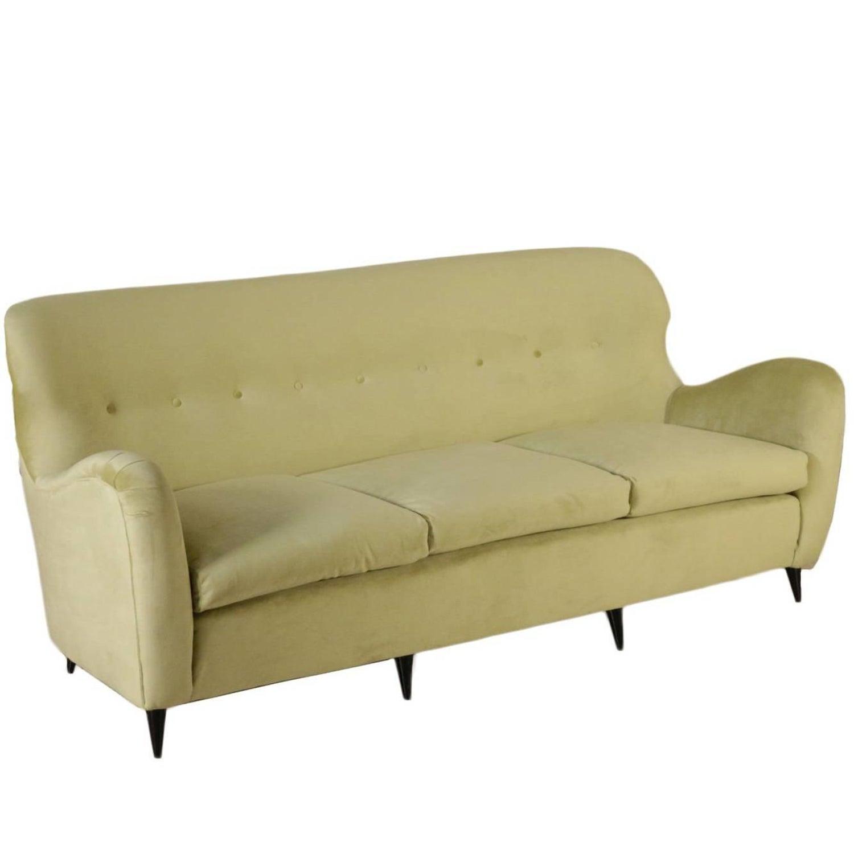 Sofa springs foam padding velvet upholstery vintage italy 1950s at 1stdibs