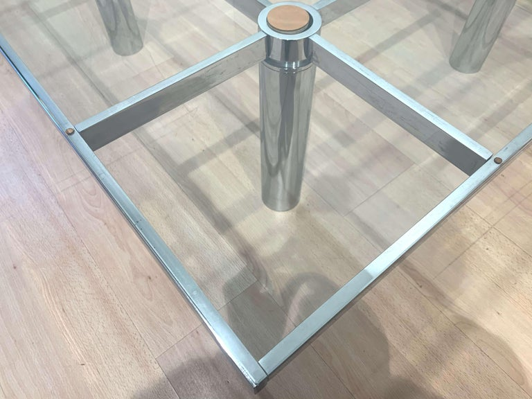 Sofa Table 'Andre' by Afra & Tobia Scarpa, Chromed and Glass, Italy, circa 1970 For Sale 9