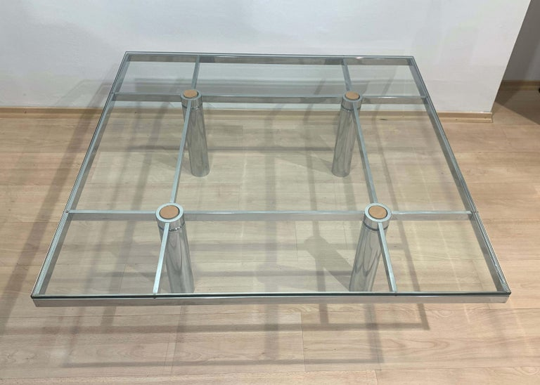 Sofa Table 'Andre' by Afra & Tobia Scarpa, Chromed and Glass, Italy, circa 1970 In Good Condition For Sale In Regensburg, DE