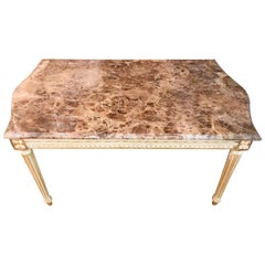 Sofa Table in the Louis Seize Style with Marble