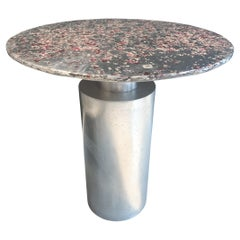 """Sofa Table, """"Totem Rubino Oro"""", Melted Pewter, Murano Glass, Crystal Resin"""