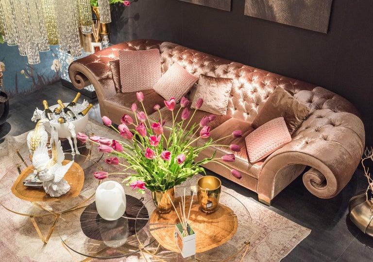 Italian Sofa Versailles, Capitonné Backrest, Italy For Sale