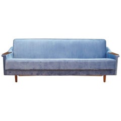 Sofa Vintage 1960s Danish Design Retro Blue
