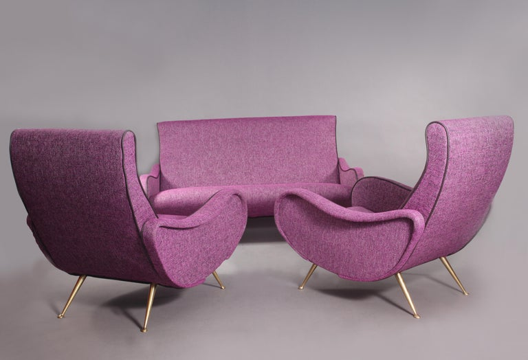 Two lady chairs with two-seat sofa