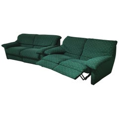 Sofas in Green Velvet by Pol 74 Postmodern 2/3-Seat, Italy 1990s Set of 2