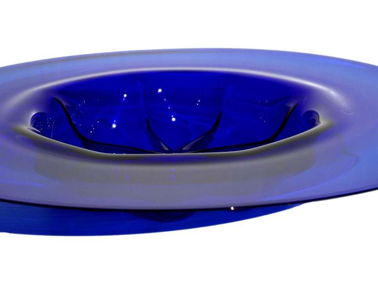 Blue blown Murano glass Perfect condition.