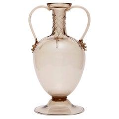 Soffiato Amphora Vase Attributed to Vittorio Zeccin for MVM Cappellin circa 1925