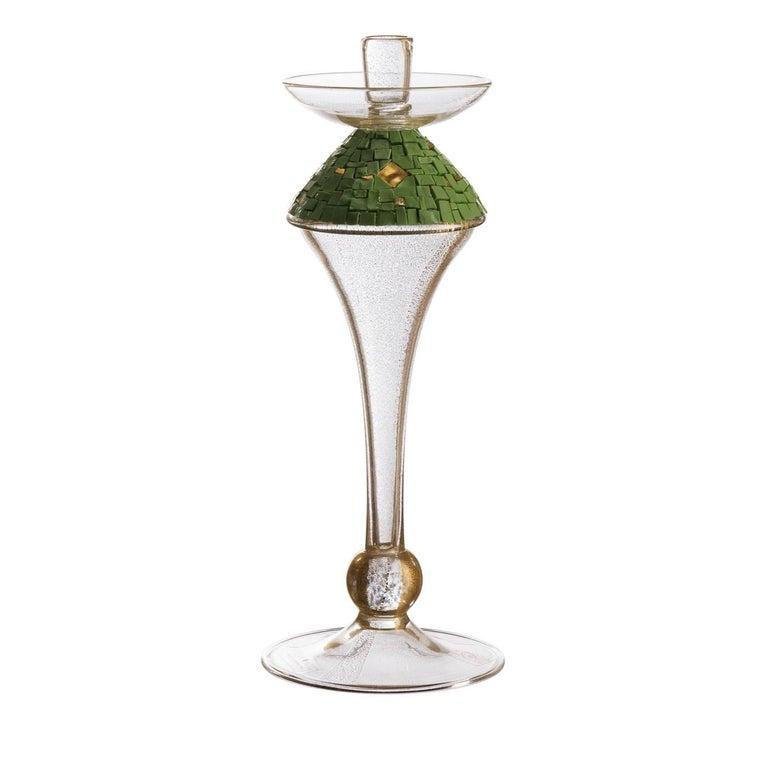Soffio Green Candlestick