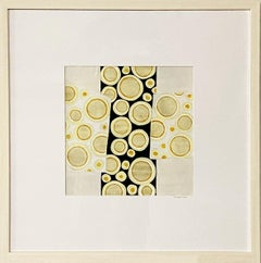 """""""Bubbles #1,"""" Abstract Framed Painting"""