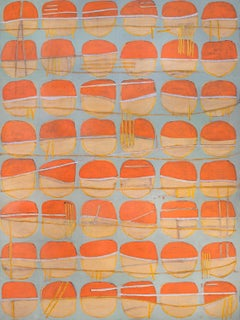 """""""Carrot Tops,"""" Abstract Painting"""