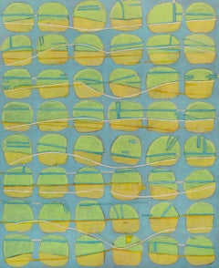 """Lemon Lime Goodness,"" Abstract Painting"