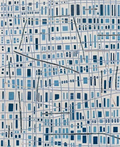 """The Blue City,"" Abstract Painting"