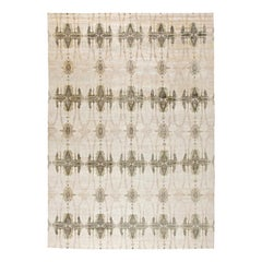 Soft Beiges and Taupe Ripple Pearl Eskayel Rug II