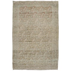 Soft Brown Terracotta Persian Paisley Malayer Rug