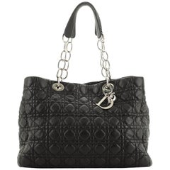 Soft Chain Tote Cannage Quilt Lambskin Large