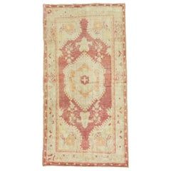 Soft Color Vintage Turkish Oushak Rug