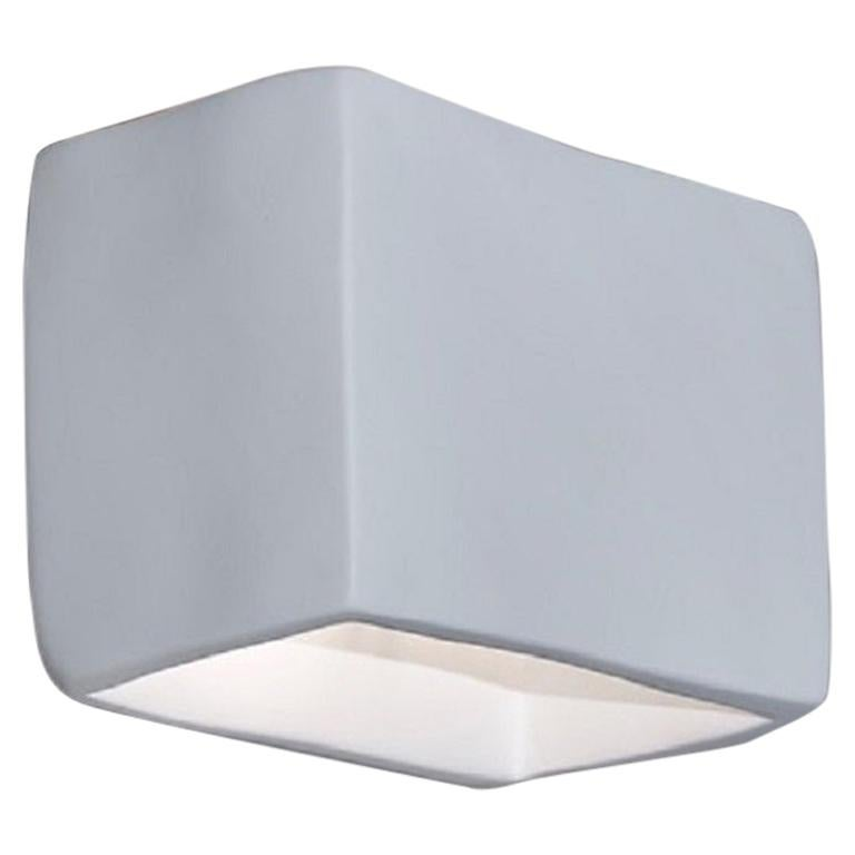 Soft Cube Contemporary Wall Sconce, Wall Light, White Plaster, Hannah Woodhouse