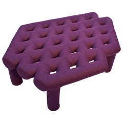 Soft Diamond Seat, Ottoman in Customizable Configurations and Fabric Colors