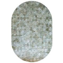 Soft and Elegance Customizable Oleada Moss Cowhide Area Floor Rug Large