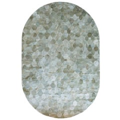 Soft and Elegance Customizable Oleada Moss Cowhide Area Floor Rug Small