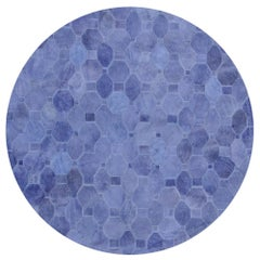Soft and Elegance Customizable Oleada Periwinkle Cowhide Area Floor Rug X-Large