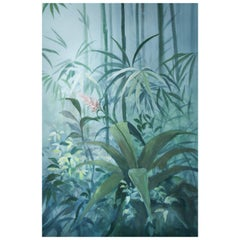 Soft Jungle, Hand Painted Wallpaper