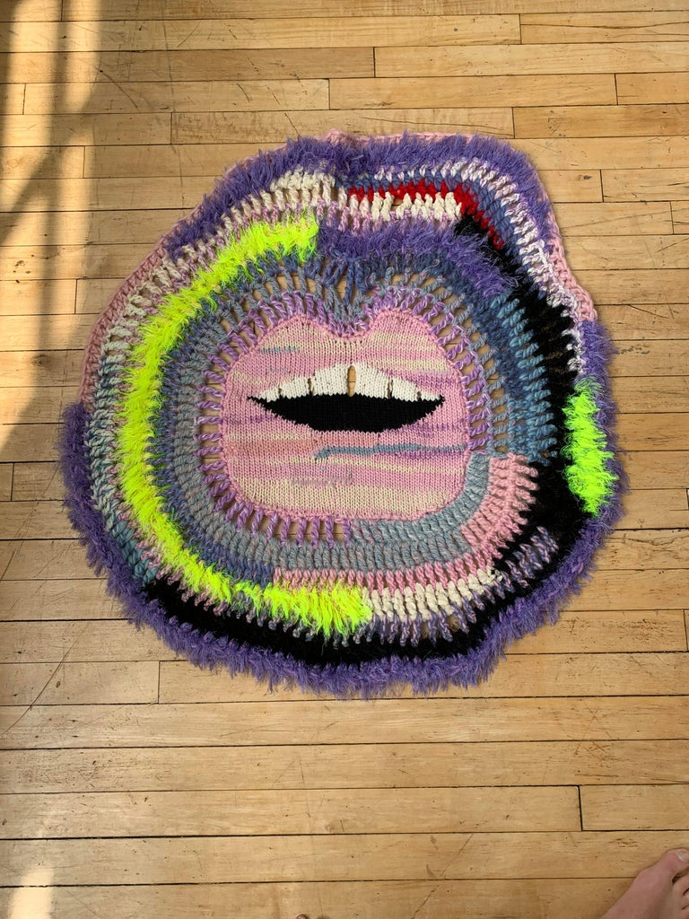 Soft Lips 'Crazy Blanket' by Paris Essex In New Condition In  Los Angeles, CA