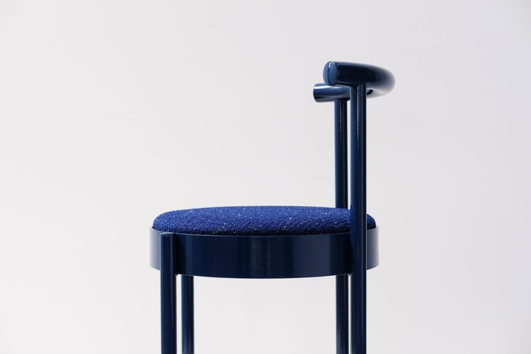 Other Soft Navy Blue Contemporary Chair, 1stdibs New York For Sale