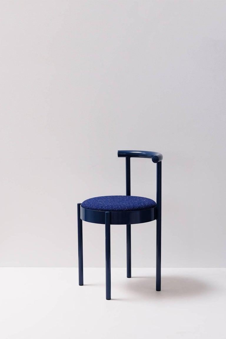 Australian Soft Navy Blue Contemporary Chair, 1stdibs New York For Sale
