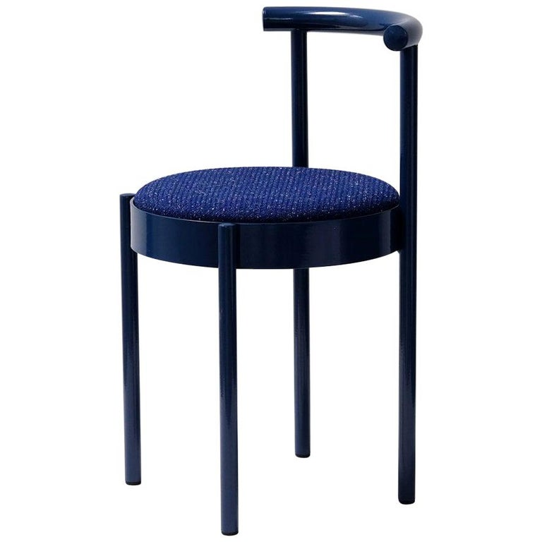 Soft Navy Blue Contemporary Chair, 1stdibs New York For Sale