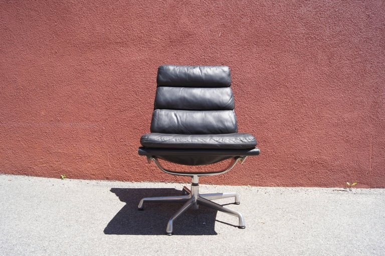 American Soft Pad Armless Executive Chair by Charles and Ray Eames for Herman Miller For Sale