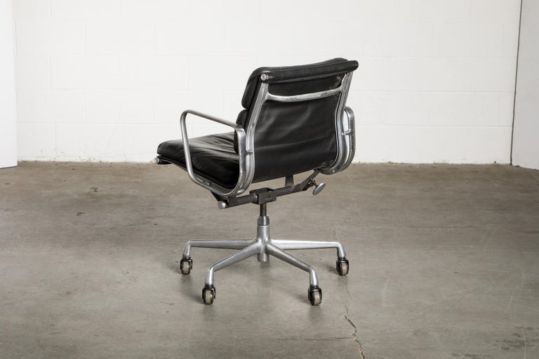 Soft Pad Management Chair by Charles Eames for Herman Miller, Signed & Dated For Sale 3